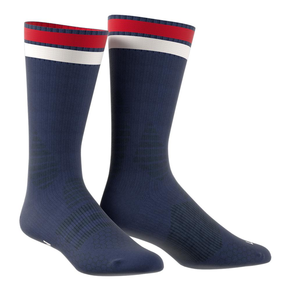 New York Pharrell Williams Tennis Crewsock Dark Blue And Blue