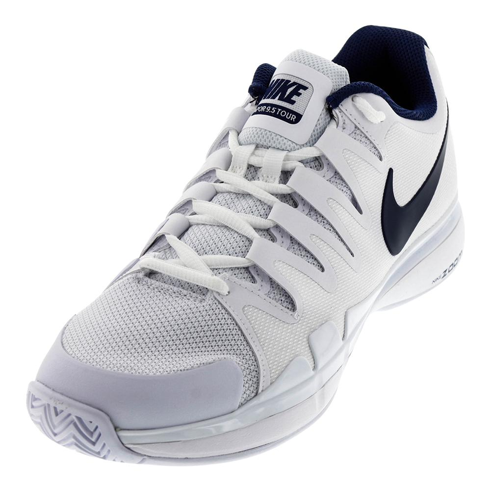 Juniors ` Zoom Vapor 9.5 Tour Tennis Shoes White And Binary Blue