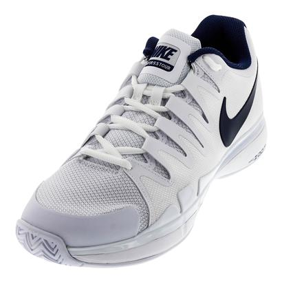 Juniors` Zoom Vapor 9.5 Tour Tennis Shoes White and Binary Blue