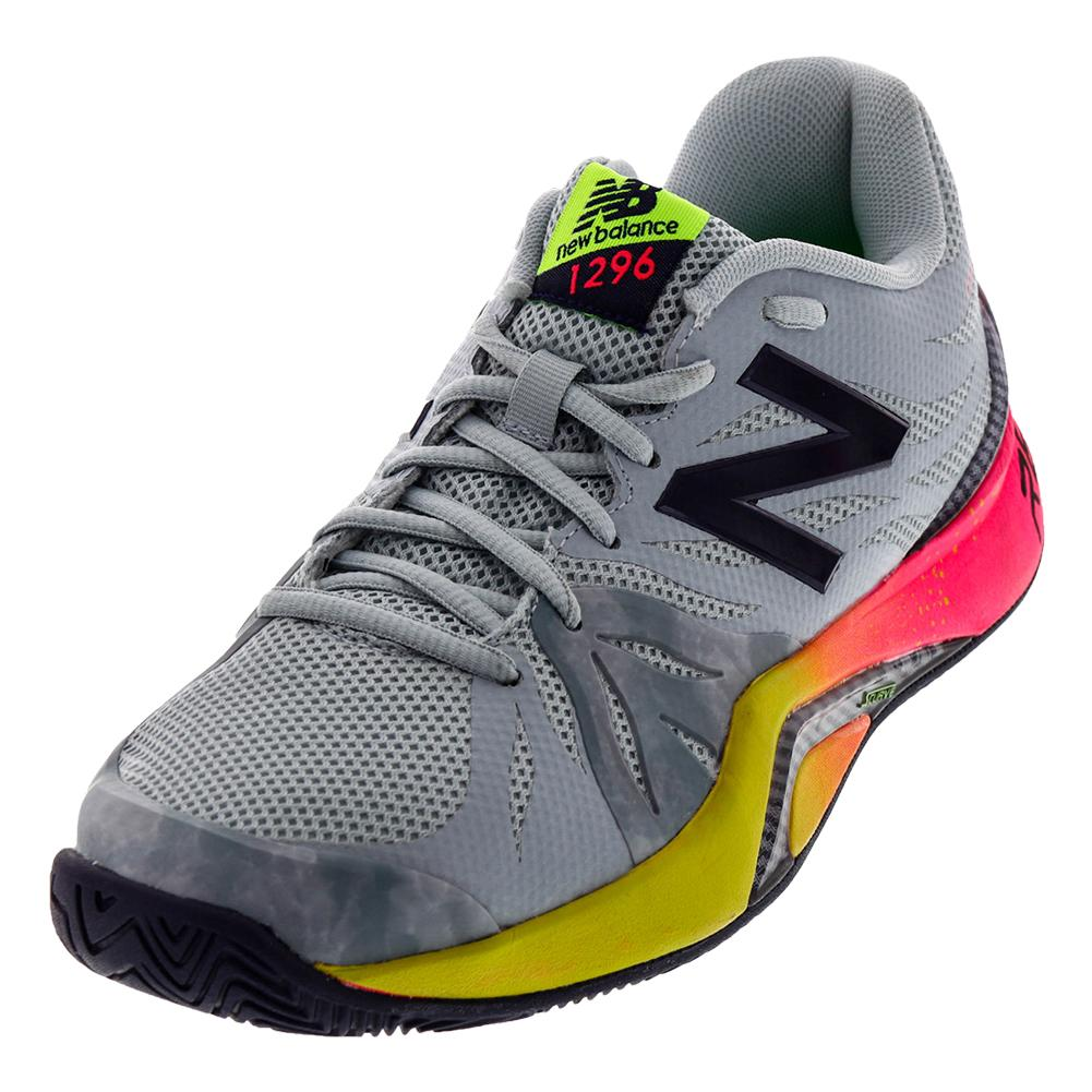 Men's 1296v2 D Width Tennis Shoes Pigment And Energy Lime