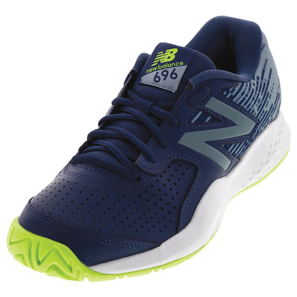 Men's 696v3 D Width Tennis Shoes Pigment And Energy Lime