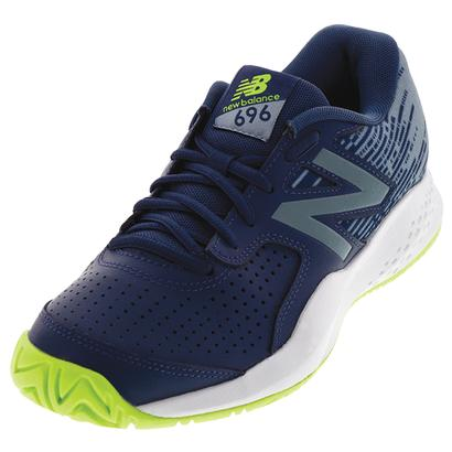 Men`s 696v3 D Width Tennis Shoes Pigment and Energy Lime