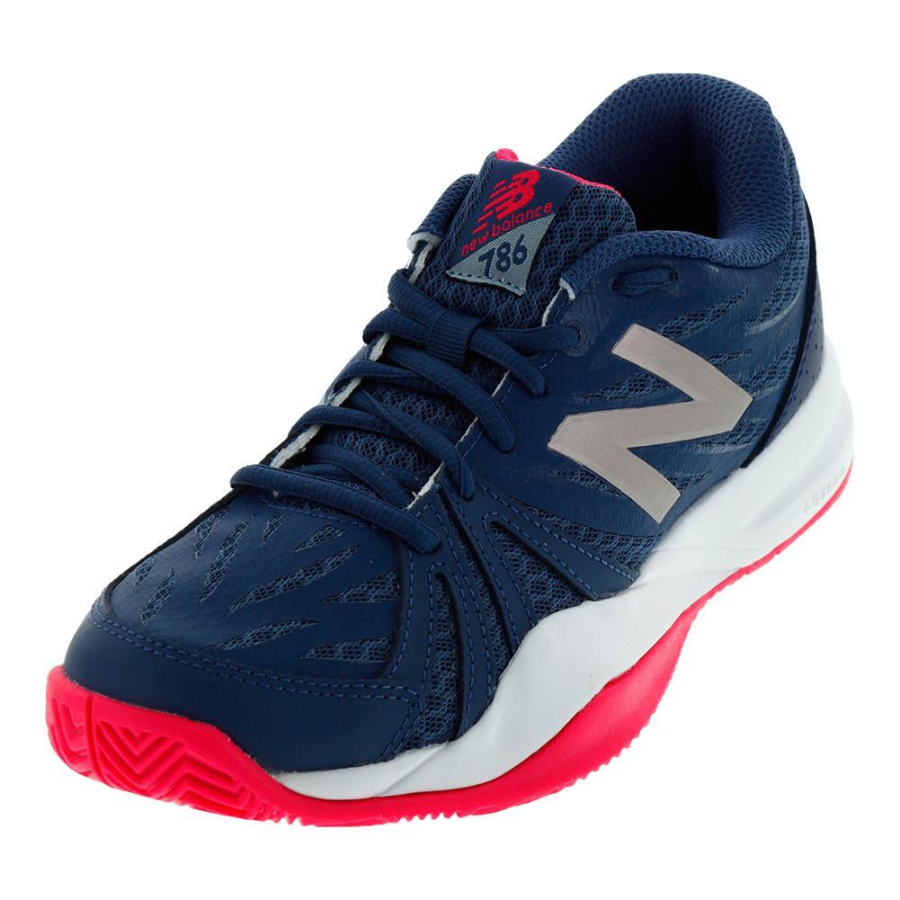 new balance tennis shoes womens. new women`s 786v2 b width tennis shoes vintage indigo and alpha pink new balance womens
