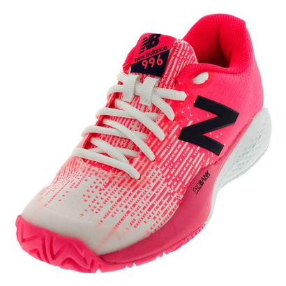 Juniors` 996v3 Tennis Shoes Alpha Pink and White