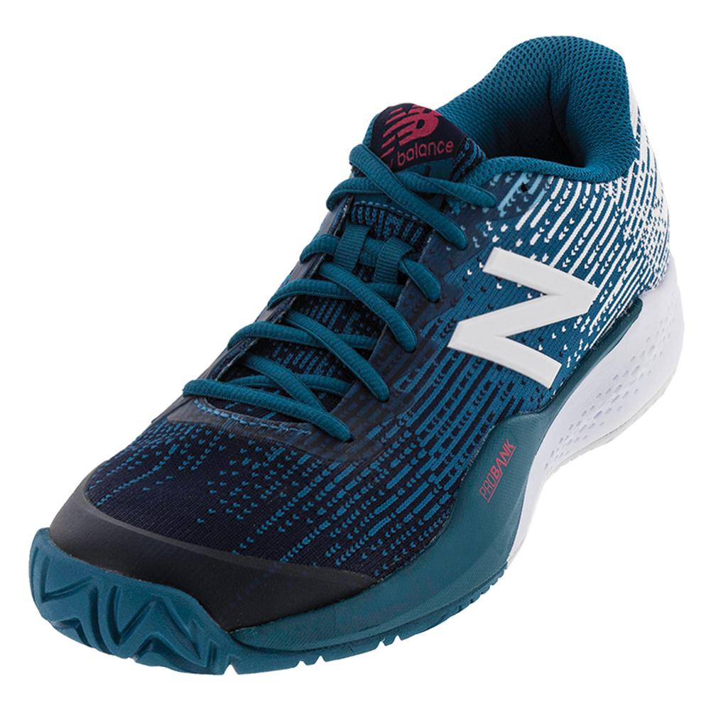 Men's 996v3 D Width Tennis Shoes Lake Blue And Pigment