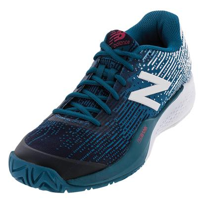 Men`s 996v3 D Width Tennis Shoes Lake Blue and Pigment