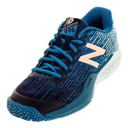 Women`s 996v3 Tennis Shoes Deep Ozone Blue and Ozone Blue