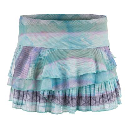 Women`s Wild Rally Pleat Tier Tennis Skort Lagoon