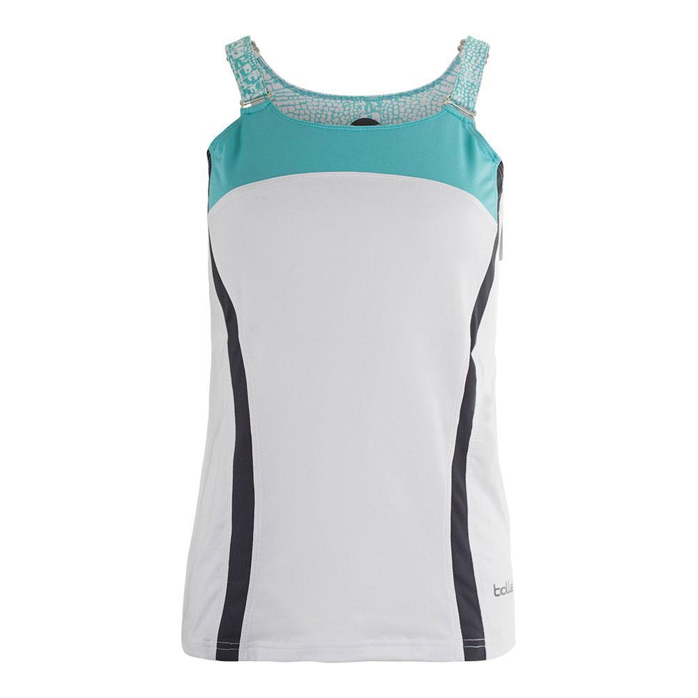 Women's Aquarius Tennis Tank White And Aqua