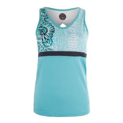Women`s Aquarius Racerback Tennis Tank Aqua
