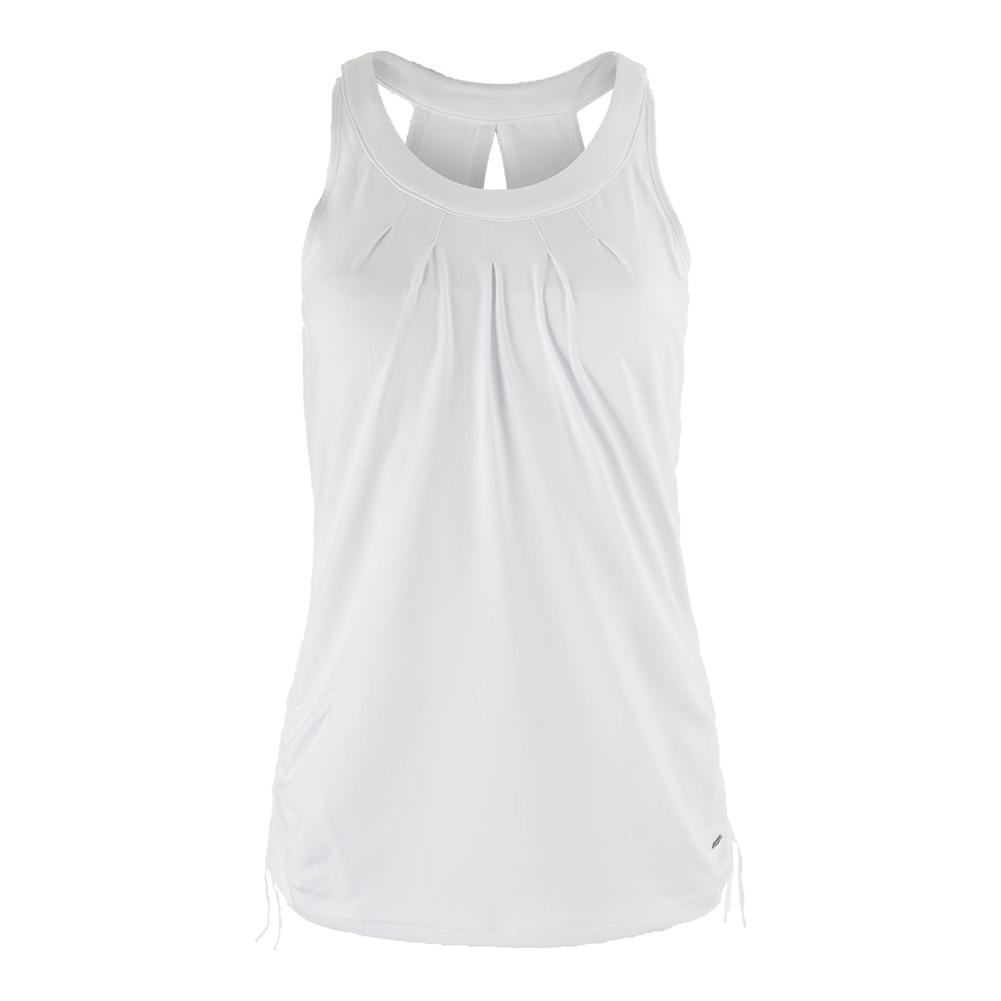 Women's Club White Racerback Tennis Tank White