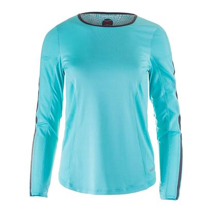 Women`s Aquarius Long Sleeve Tennis Top Aqua