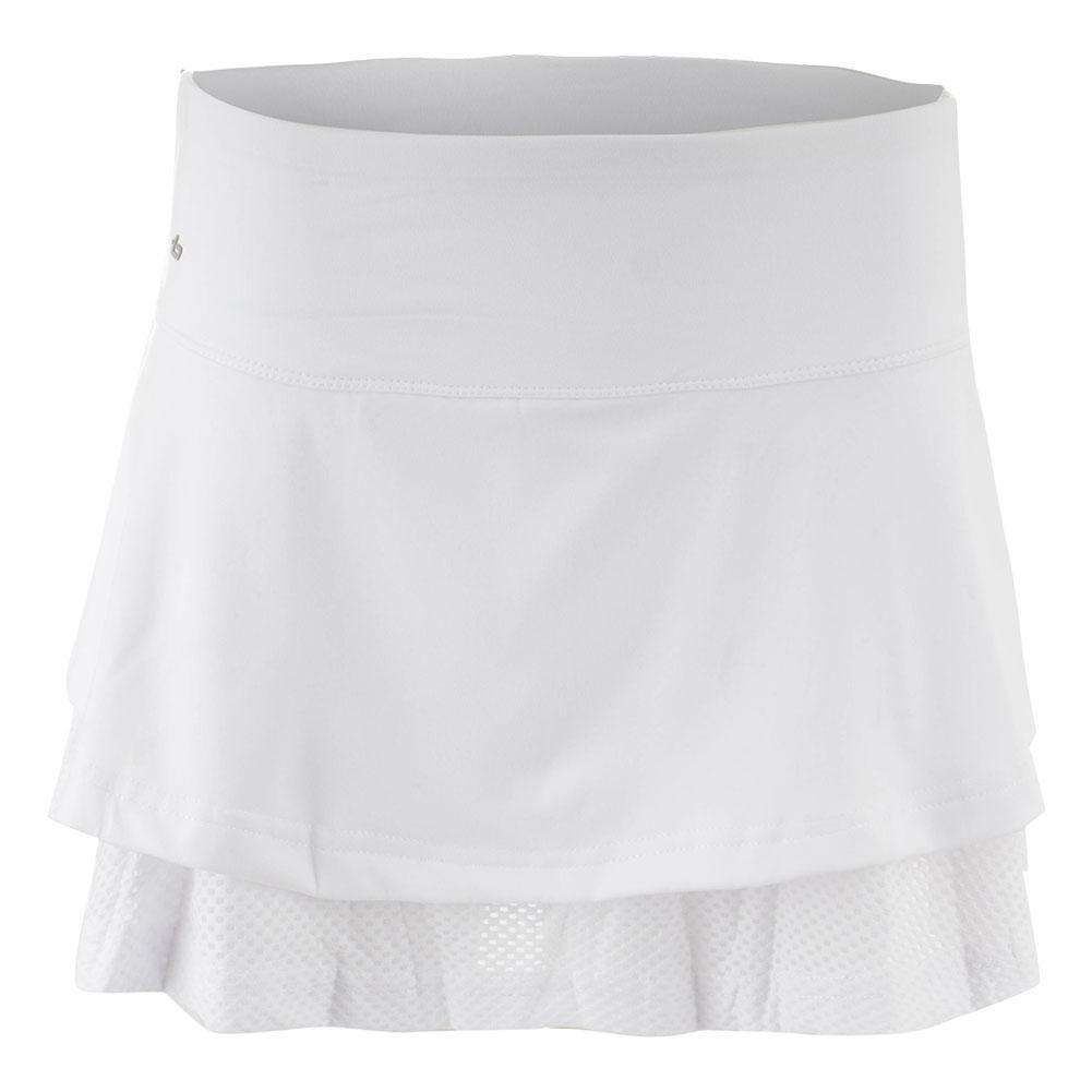 Women's Club Whites 14 Inch Tennis Skort White
