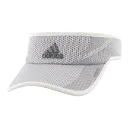 Women`s Adizero Prime Tennis Visor White and Gray