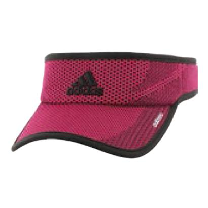 Women`s Adizero Prime Tennis Visor Bold Pink and Black