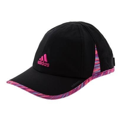 Women`s Adizero II Tennis Cap Black and Shock Pink Twister