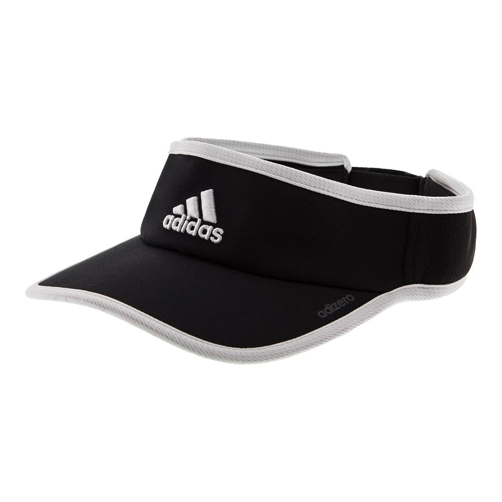 Women's Adizero Ii Tennis Visor Black And White