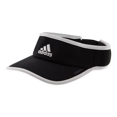 Women`s Adizero II Tennis Visor Black and White