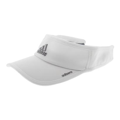 Women`s Adizero II Tennis Visor White and Light Onix