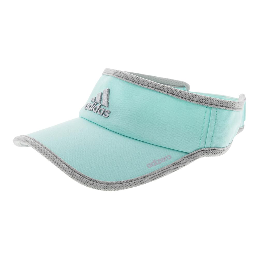 Women's Adizero Ii Tennis Visor Energy Aqua And Clear Onix