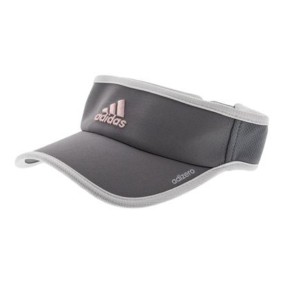 Women`s Adizero II Tennis Visor Gray and White