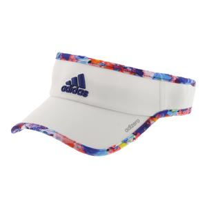 Women`s Adizero II Tennis Visor White and Jodo Print