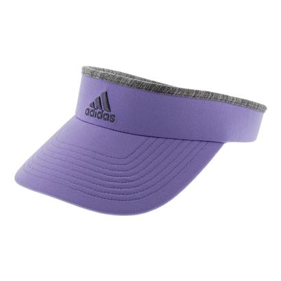 Women`s Match Tennis Visor Light Flash Purple and Core Heather