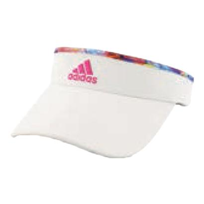 Women`s Match Tennis Visor White and Jodo Print
