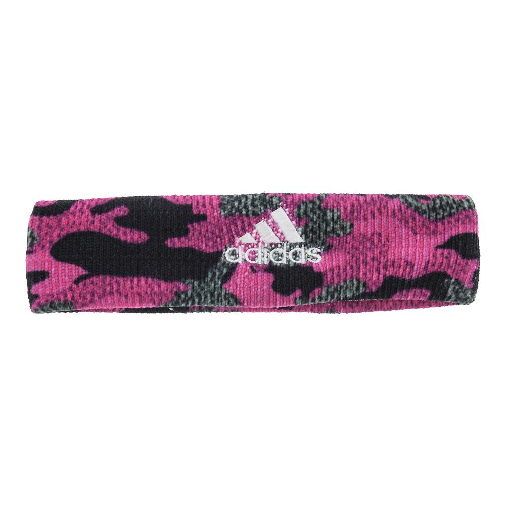 Interval Digital Print Tennis Headband Pink Camo