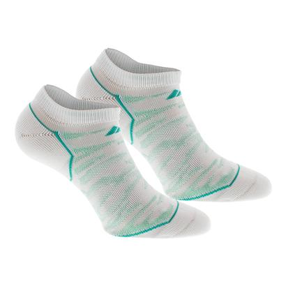 Women`s Superlite Prime Mesh No Show Socks 2 Pack White and Easy Green Sz 5-10