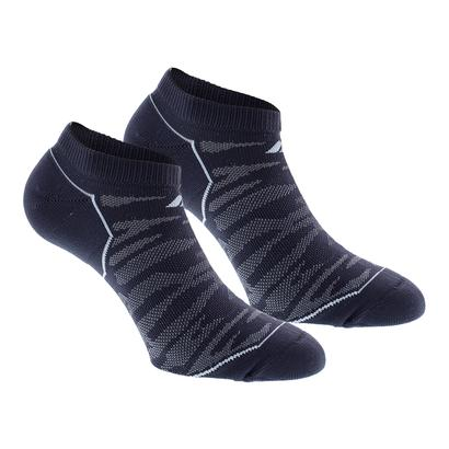 Women`s Superlite Prime Mesh No Show Socks 2 Pack Mdnight Gy and Easy Bl Sz 5-10