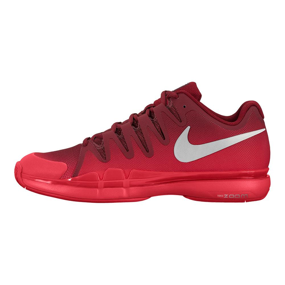 Juniors ` Zoom Vapor 9.5 Tour Tennis Shoes Team Red And Metallic Silver