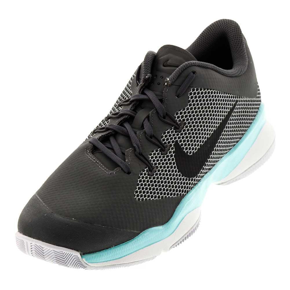 Juniors ` Air Zoom Ultra Tennis Shoes Dark Gray And Aurora Green