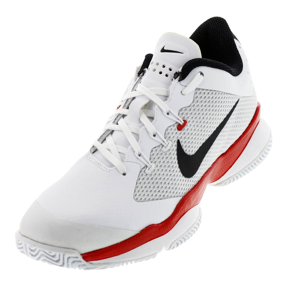 Men's Air Zoom Ultra Tennis Shoes White And University Red