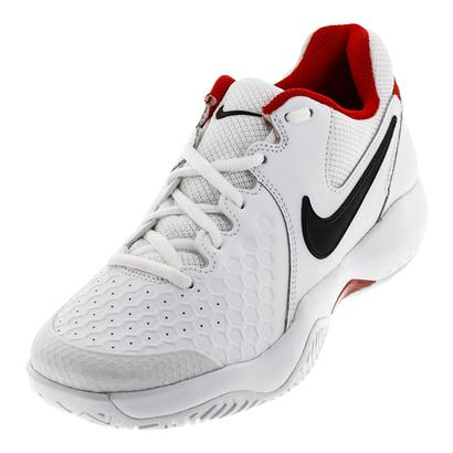 Men`s Air Zoom Resistance Tennis Shoes White and University Red