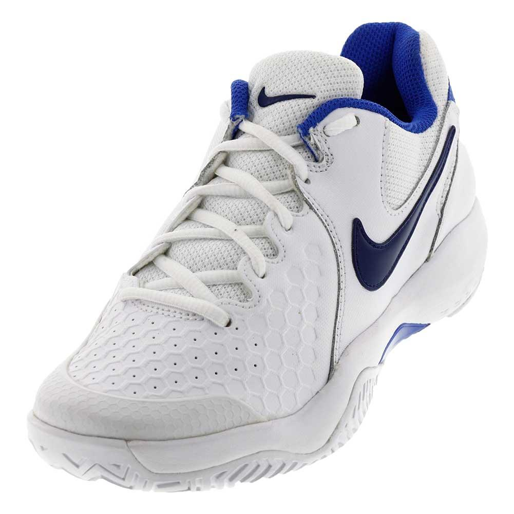Women's Air Zoom Resistance Tennis Shoes White And Binary Blue