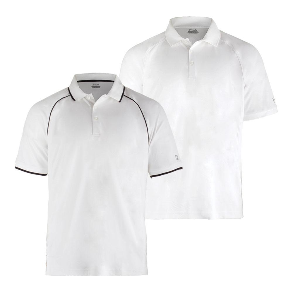 Men's Fundamental Piped Tennis Polo