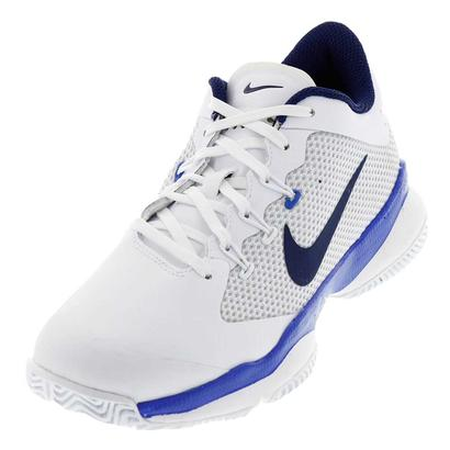 Women`s Air Zoom Ultra Tennis Shoes White and Mega Blue