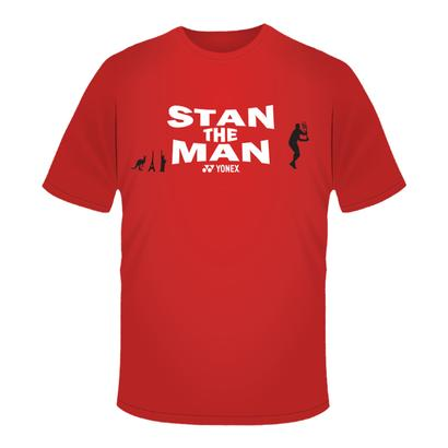 Men`s Stan the Man Tennis Tee Red