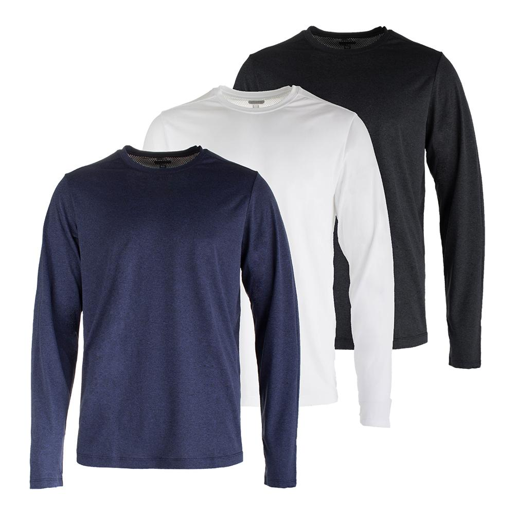 Men's Fundamental Heather Long Sleeve Tennis Top