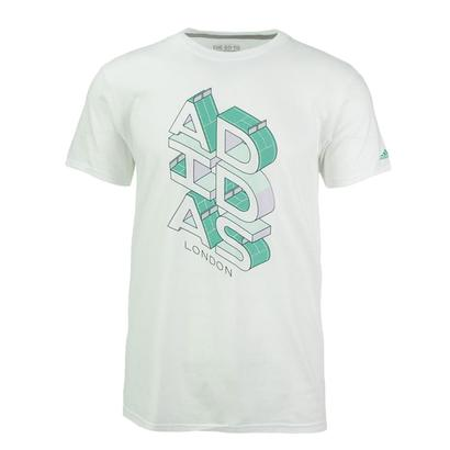Men`s Court Stack London Tennis Tee White