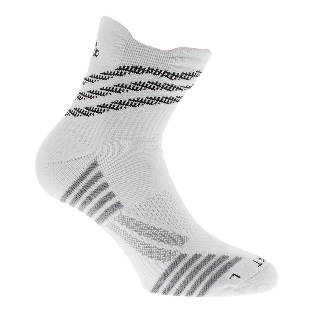 Speed Mesh High Quarter Traxion Socks White And Gray