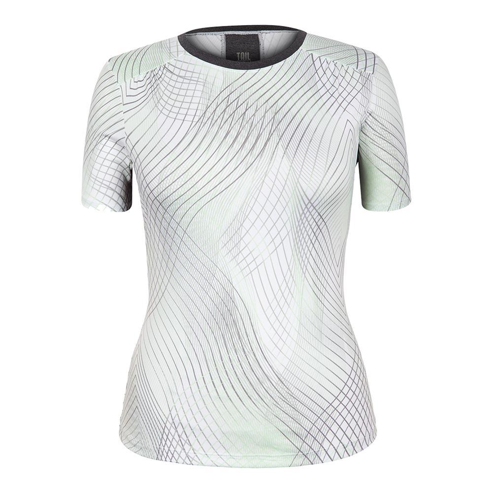 Women's Rocio Cap Sleeve Tennis Top Enchantment Honeydew