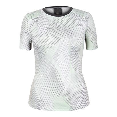 Women`s Rocio Cap Sleeve Tennis Top Enchantment Honeydew