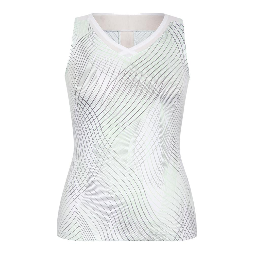 Women's Carla Tennis Tank Enchantment Honeydew