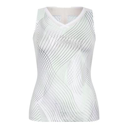 Women`s Carla Tennis Tank Enchantment Honeydew