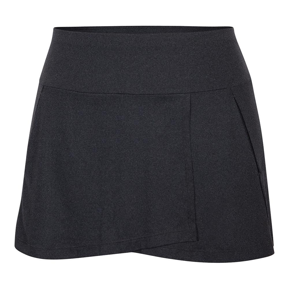 Women's Una 13.5 Inch Tennis Skort Black Heather