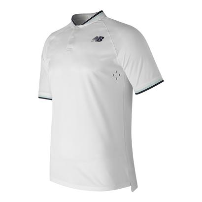 Men`s Tournament Henley Tennis Top White