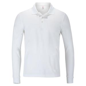 Men`s Crestable Long Sleeve Tennis Polo White