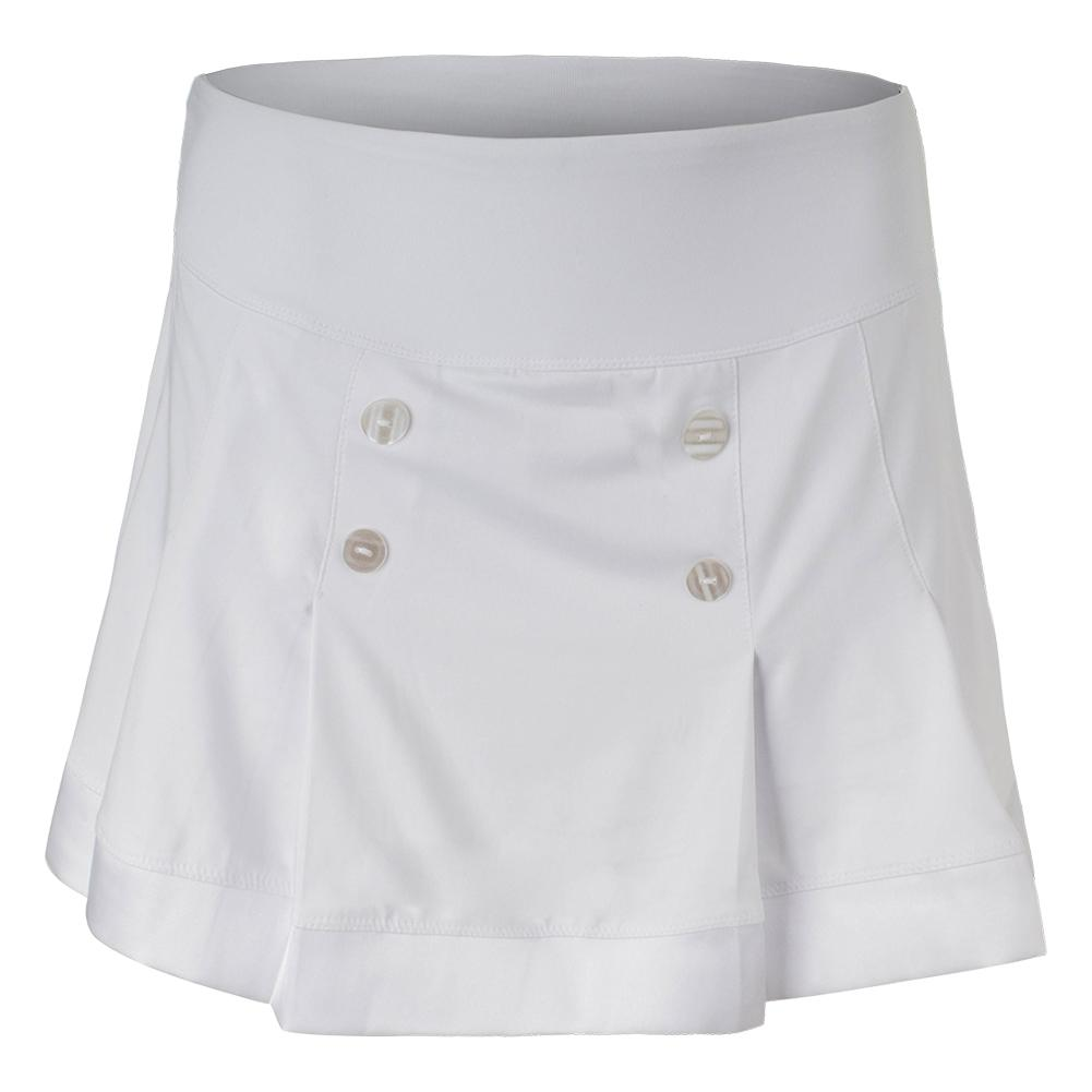 Women's Club Whites 14 Inch Tennis Skort White